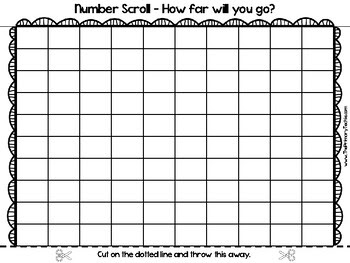 Blank Hundreds Chart (SCROLLING!) by The Primary Techie   Teachers ...