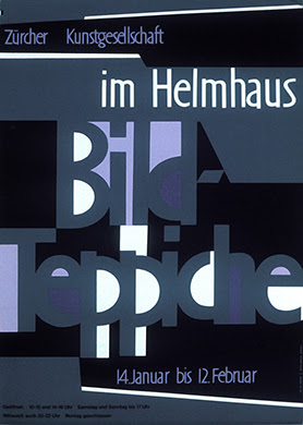 H. E. Meier, poster for tapestry exhibition at the Helmaus Museum in Zurich.