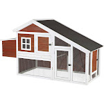 Trixie Pet Chicken Coop with A View - Brown/White