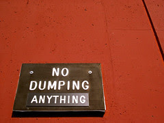 No Dumping (Anything)