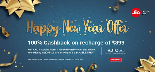 Reliance Jio Introduced Happy New Year Offer 2019