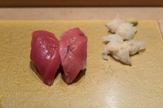 Mantenzushi Marunouchi Tokyo Akami and Chuutoro Sushi