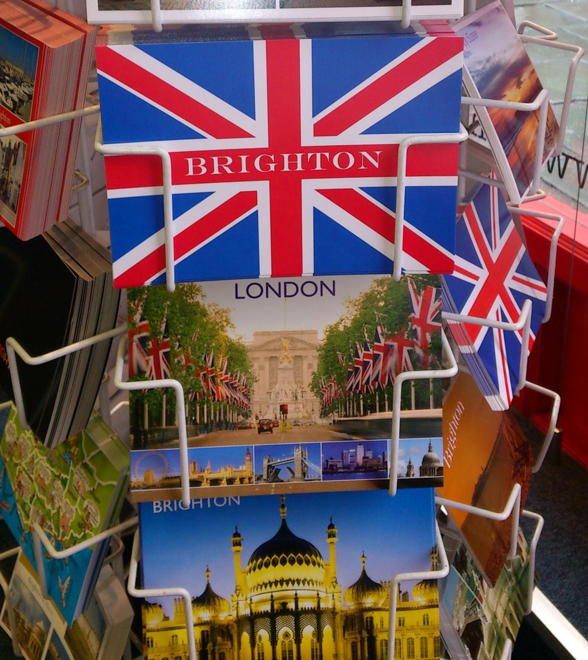 Brighton - Union Jack Postcard