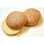 Rotellas Yellow Seeded Hamburger Bun, 4.5 inch - 10 per pack - 4 packs per case.