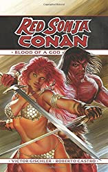 red sonja/conan graphic novel cover
