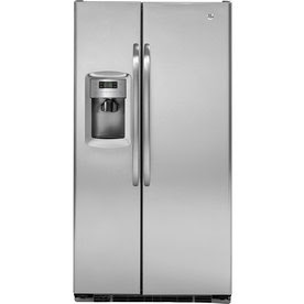 GE 22.7 Cu. Ft. Side-by-Side Counter-Depth Refrigerator (Color: Stainless Steel)
