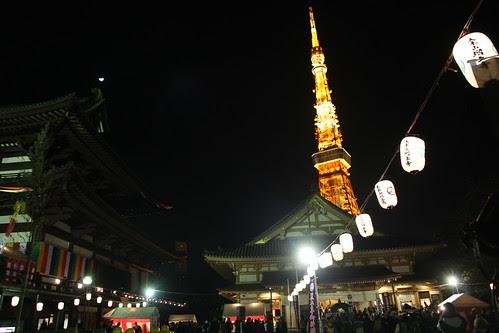 Zojo-ji on New Year's Eve 2