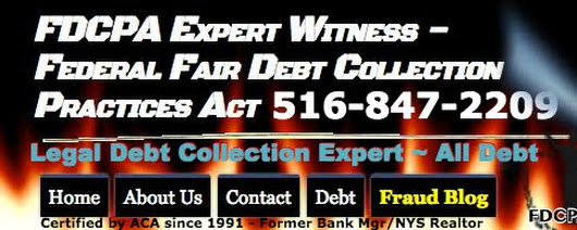 FDCPA Expert Witness.org - Federal Fair Debt Collection Practices Act