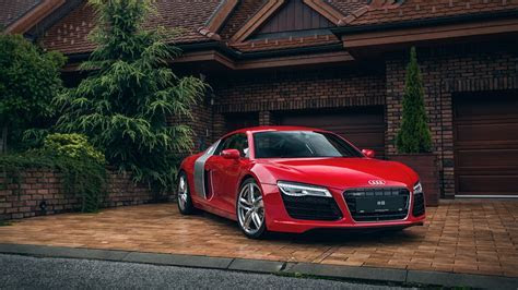 Audi R8 (red)   HD wallpaper download. Wallpapers, pictures, photos.