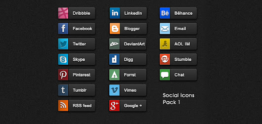 Social Share Buttons Pack - 365psd