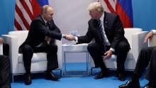 President Donald Trump shakes hands with Russian President Vladimir Putin at the G20 Summit, Friday, July 7, 2017, in Hamburg. (AP Photo/Evan Vucci)