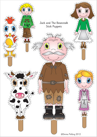 Jack & the Beanstalk Puppets
