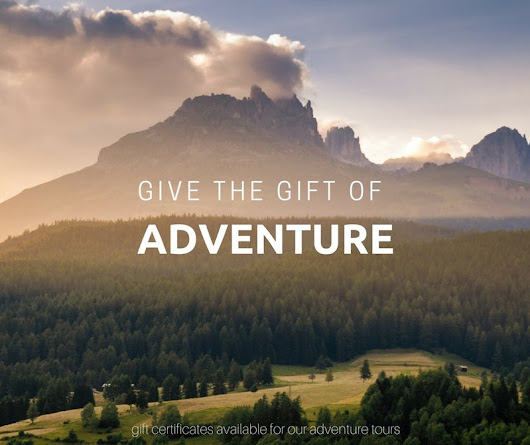 Give the Gift of Adventure with a Gift Certificate