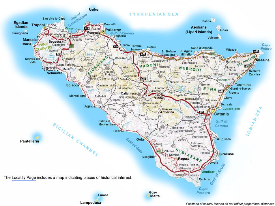 Cities In Sicily Italy Map | Metro Map