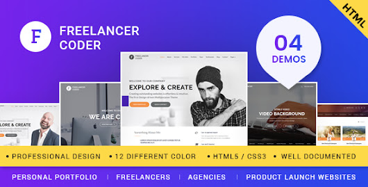 Freelancer Coder – One Page Responsive Portfolio Template