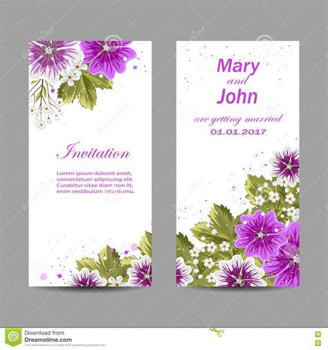 Set Of Wedding Invitation Cards Design. Stock Vector