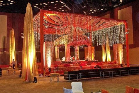 North Indian wedding stage decor   Indian Glam   Pinterest