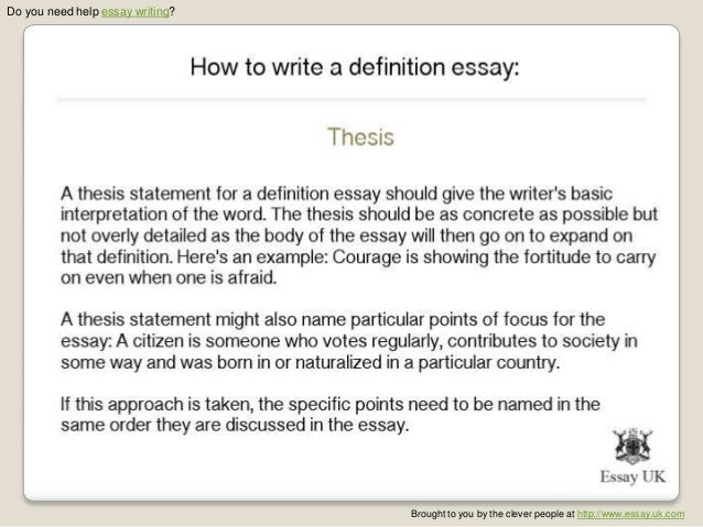 thesis statement definition in writing