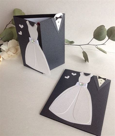 Wedding Card, Mr and Mrs, Bride and Groom Congratulations