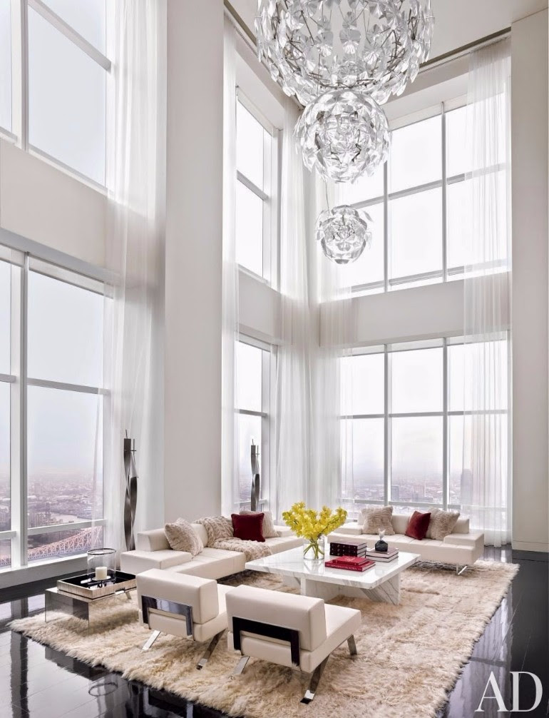 Fall in Love with These Luxury White Living Rooms