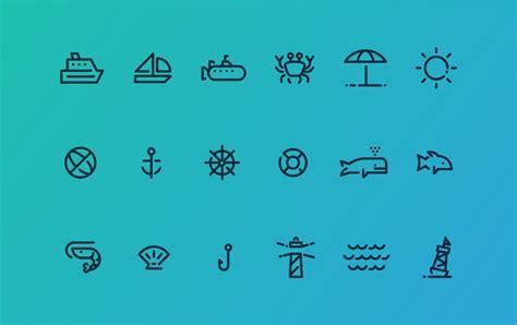 18 Ocean Icons ~ Icons ~ Creative Market