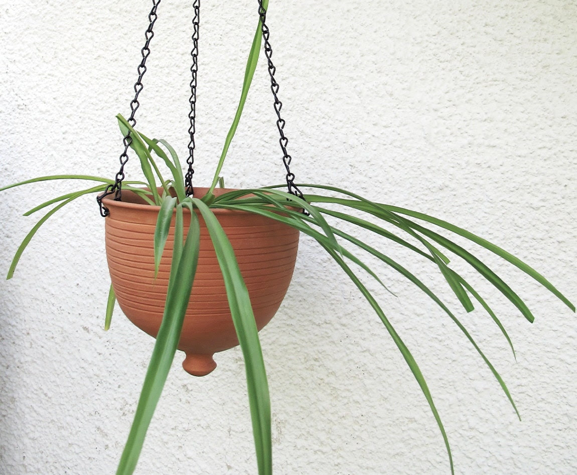 Hanging planter kitchen decor gardening Ceramic by blueroompottery