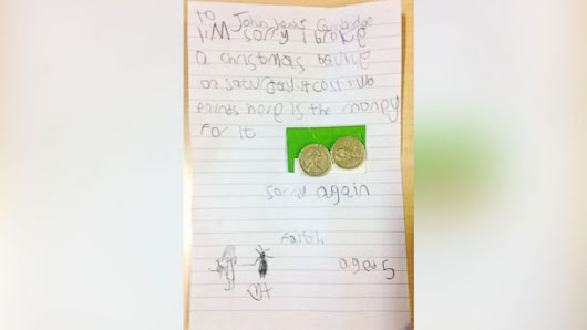 Little Girl's Sincere Apology Note Touches Twitter