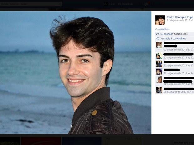 Pedro Henrique Pupa, bailarino formado em Piracicaba (Foto: Reprodução/Facebook)