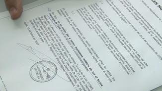Detall del ban amb què l'Ajuntament de Celrà comunica que no vol militars al seu terme