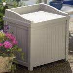 Outdoor Suncast Premium 22-Gallon Deck Box with Seat - SS1000