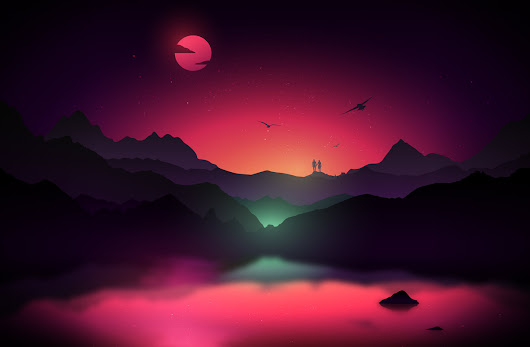35 Scenic Landscape Illustrations with Vibrant Colors