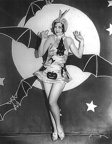 Spooky Vintage Bat Girl