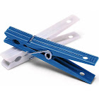 Whitmor Blue & White Plastic Clothespins 50 Count