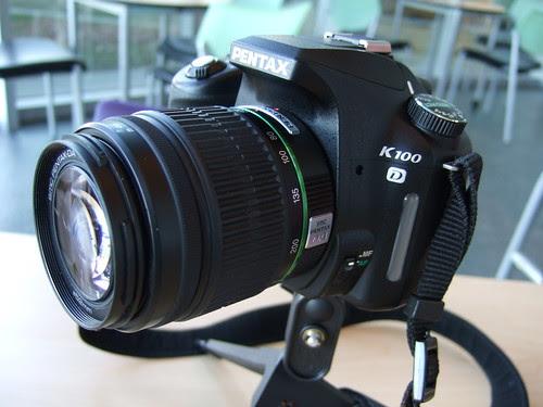 Pentax K100D on ultrapod 2