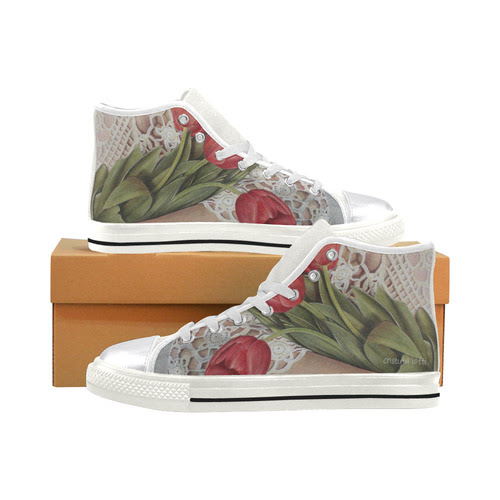 LIFE#8 women's high top canvas shoes Women's Classic High Top Canvas Shoes (Model 017)