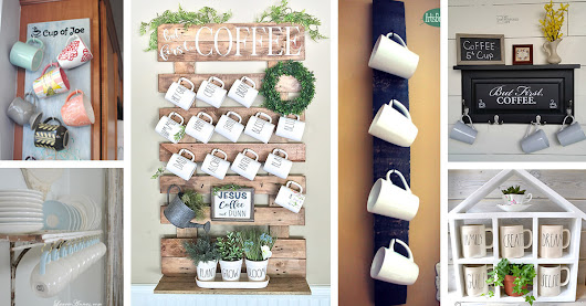 26 Best DIY Coffee Mug Holder Ideas and Projects for 2018