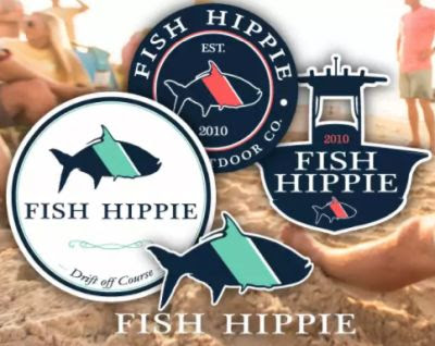 Fish Hippie Free Stickers – US