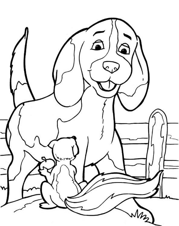 Ausmalbilder Hunde 14 | Ausmalbilder