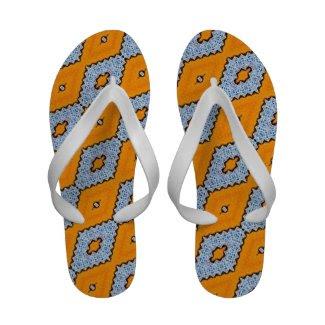 Swallowtail Pattern Flip-Flops