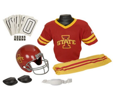 buy online 05277 76d7c Youth football pants  Bargain Franklin Iowa State Cyclones DELUXE Youth  Helmet and Football Uniform Set (Small)