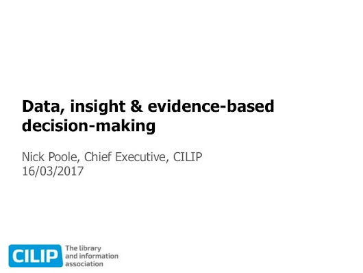 Data, insight & evidence-based decision-making