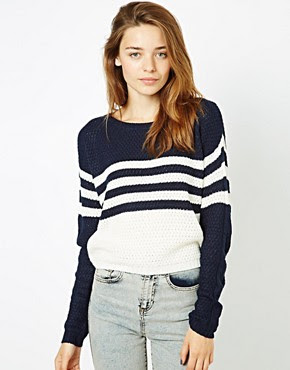 Image 1 of Vila Colour Block Jumper
