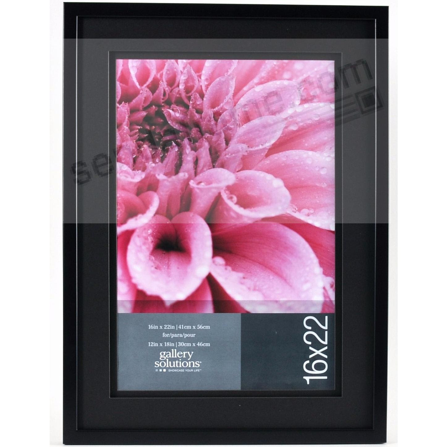 Black Wall 16x2212x18 Frame With Airfloat Black Mat By Gallery