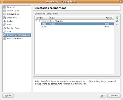 Directorios Compartidos en VirtualBox