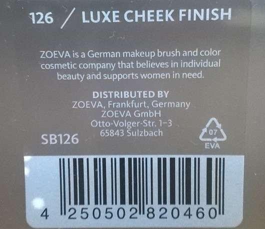 Zoeva 126 Luxe Cheek Finish
