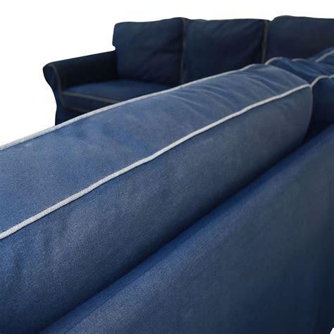 ikea ikea ektorp navy blue skirted sectional sofas
