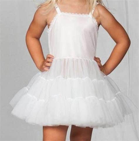 girls  full slip adjusts bouffant petticoat crinoline