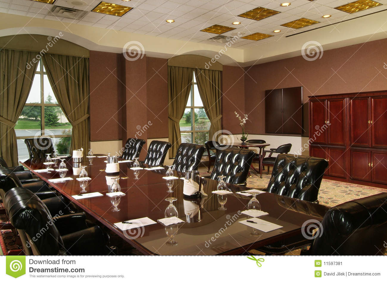 Luxury Conference Room Stock Image - Image: 11597381