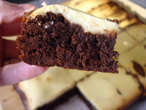 Close-up Cream Cheese Brownie