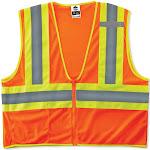 GloWear 8229Z Class 2 Economy Two-Tone Vest, Orange